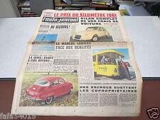 L AUTO JOURNAL N° 263 12 janvier 1961 Prix du Kilomètre/ Essai Saab 96/ La 2CV *