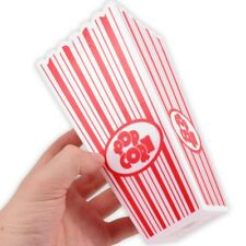 10x Movie Night Popcorn Boxes Reusable Washable Cinema Film Snack Treat Holders