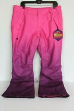 Under Armour Storm Cold Gear Infrared Womens L Pink Purple Snow Pants Ski NWT