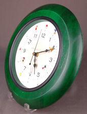 "Looney Tunes Wall Clock-Green Wood Frame-Warner Bros Studio Store-12"" Circle-Vtg"