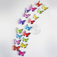 18pcs 3d Butterfly Wall Stickers Art Decal Home Decor PVC Butterflies Decoration Multi Color 04