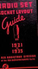 RCA - Radio Set Tube Socket - Layout Guide - 1921-1935