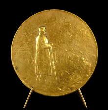 Médaille berger et ses moutons en bronze doré shepherd and his sheep 50mm Medal