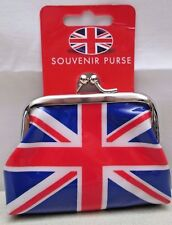 Vintage Souvenir Coin Change Clasp Purse Union Jack UK Flag New  Elgate Co.