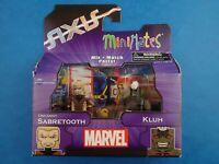 Unopened Marvel Minimates UNCANNY SABRETOOTH & KLUH Series 62 Axis Mini Figures