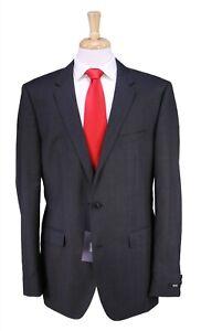 New! Hugo Boss Current The Jam/Sharp Solid Dark Gray 2-Btn Wool Suit 44L