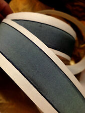 """VINTAGE 7/8"""" FRENCH RIBBON wire SOLID 1yd BLUISH GRAY Made in France"""