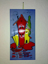 Wandfliese Wall Tile Haus Boot House Boat FAT LAVA 60s 70s Space Age H: 30 cm *