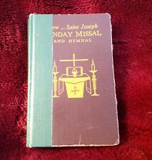 Book & Prayer Card Saint St Joseph Sunday Missal Hymnal 1966 HC Catholic