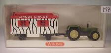 Wiking 1/87 Traktor Schlüter Super 1250 VL mit Zirkus - Anhänger OVP #497
