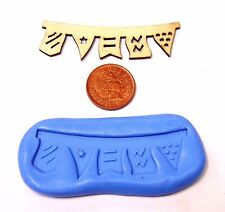 Reusable Bunting Silicone Rubber Mould Sugarcraft Jewellery Food Safe Tumdee