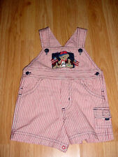 Vtg-Baby Boys Shorts-Romper-Jon John-Overalls dog American Flag-Photo Outfit-3-6