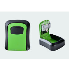 In/Outdoor 4-Digit Combination Key Storage Box Lock, Waterproof Cover_Green