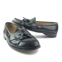 Cole Haan Black Leather Tassel Pinch Loafer Shoes 03506 Mens Size 10 E