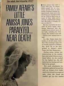 Family Affair, Anissa Jones, Three Page Vintage Clipping