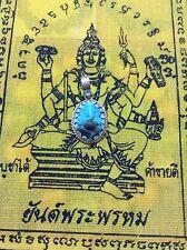 Ganesh Amulet Buddha Prayer Thailand Pendant Meditation Hindu Stone Turquoise