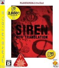 Used PS3 Siren: New Translation  SONY PLAYSTATION 3 JAPAN JAPANESE IMPORT
