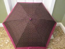 COACH Signature MINI Umbrella BROWN FUCHSIA NWT FREE SHIP