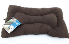 Furhaven Nap Pet Beds - Snuggle Terry & Suede Nap Mat, Medium, Espresso