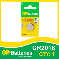 GP Lithium Button Battery CR2016 (DL2016) card of 1 [WATCH & CALCULATOR + OTHER]