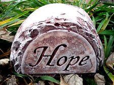 "gostatue plastic concrete plaster mold hope rock mould free standing 8"" x 4.5"""