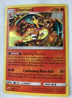 Charizard Shattered HOLO RARE 14/181 Pokemon SM Team Up NM-LP Card TCG Foil