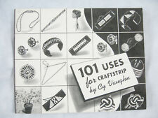 101 Uses for Craftstrip by Cy Vaughn, 1954 - Plastic Lacing Projects Book