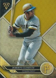 2017 Topps Triple Threads Gold Roberto Clemente 41/99 Pittsburgh Pirates MLB