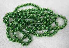 "Vintage Bright Deep Green Mercury Glass Double Beads Christmas Garland 68"" 5/8"""