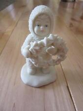 DEPT 56 SNOWBABIES I MADE THIS JUST FOR YOU WREATH ANGEL CHRISTMAS FIGURINE