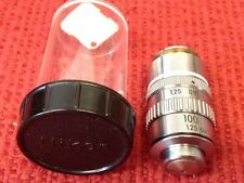 Nikon - P/N: 100 - 1.25 0.9 - 160/0.17 - Objective Lens - With Lens Case