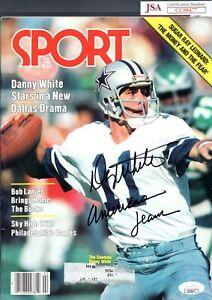 JSA Danny White Autographed Signed INSCR Feb 1981 Sport Magazine Cowboys TRB 380
