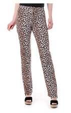 D&G Dolce & Gabbana Women's Leopard Print Straight Leg Trousers
