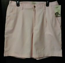 St. John's Bay Woman Size 16W Pink Pleated Shorts~Worry Free~Stain Repellent NWT