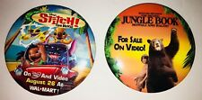"Disney Video Dvd Lilo And Stitch, The Second Jungle Book. 3"" Button Pins"