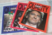 Barry Manilow - Three Scarce Fan Club Magazines - Excellent Throughout