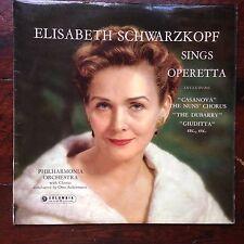 Elisabeth Schwarzkopf Sings Operetta Columbia 1959 Ex Cond Inc Booklet