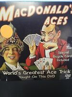 MACDONALD ACES DVD SPECIAL BICYCLE CARDS WORLD'S GREATEST ACE TRICK MAGIC