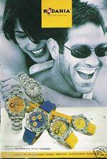 Publicité advertising 1998 Les Montres Rodania