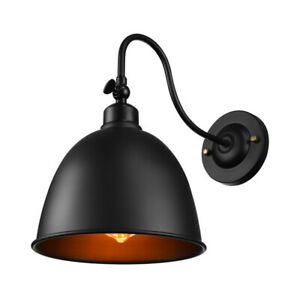 Industrial LED Wall Light Barn Shade Gooseneck Wall Mount Lamp Fixture With Bulb
