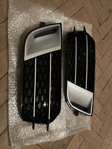 For Audi A1 8X 10-14 HONEYCOMB FRONT SPORT BUMPER FOG LIGHT GRILLE COVER