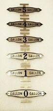 FRY VISIBLE GAS PUMP GALLON BRASS MARKERS