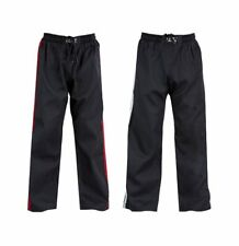 Blitz Sports Classic Polycotton Full Contact Trousers - Black Red 190cm