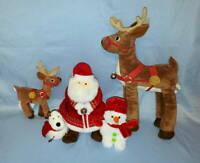 5p LOT Hallmark The Polar Express Santa Claus Reindeer Dog Snowman Plush Stuffed