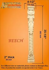 Hand Carved Solid Wood Leaf Pilaster Corbel, Fireplace,Table