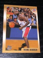 1998-99 Topps MICHAEL DICKERSON RC card #208 ~ Houston Rockets Rookie ~ F1