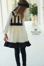Well Dressed Wolf Parisian Circus Dress 4t With Layering Top NWT Cream Black