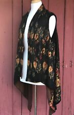 Womens CUPIO Knit Holiday Long Cardigan Sweater Wrap Duster Roses  XL XLarge New