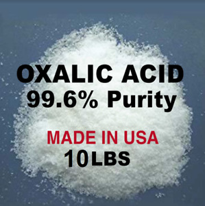 OXALIC ACID 99.6% 10 Lb. Deck, Crystals, Metal Cleaning- Rust Removal- FREE SHIP