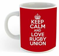 Keep Calm And Love Rugby Union  Mug - Red